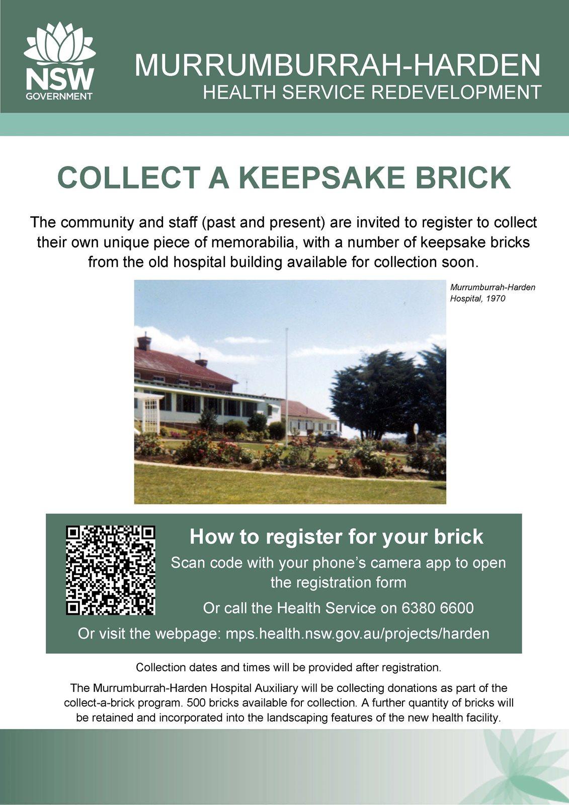 Murrumburrah-Harden Health Service - Brick Giveaway Flyer