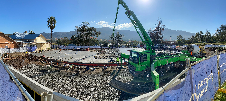 Murrurundi first concrete pour