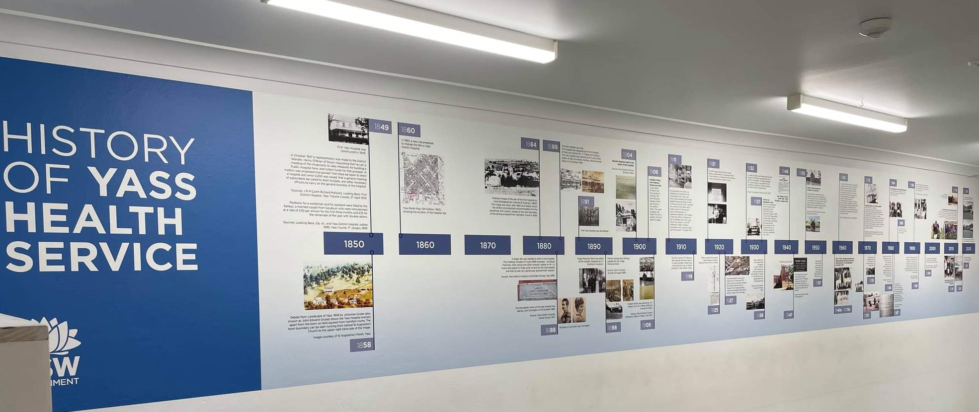 New heritage mural at Yass Hospital redevelopment showcases rich history